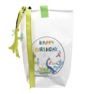 Wunderle Dino Wundertüte Happy Birthday: Dino Kleinigkeiten zum Kindergeburtstag, verpackt in einer netten Geschenktüte!