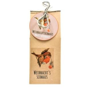 Vogel Futterstelle - Einweg Vogelfutterhaus - Vogelhaus aus Naturpappe mit Wildvogelfutter von Wunderle.