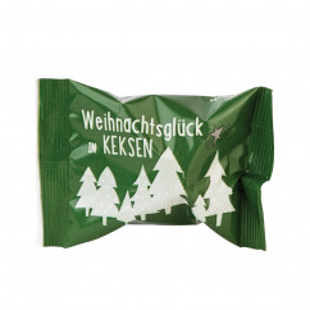 Glückskeks - Weihnachtsglück in Keksen - Wunderle - Weihnachten Glückskeks mit Tannenbaummotiv.