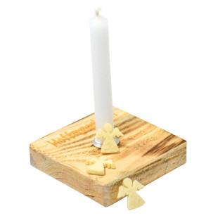 Nachhaltiges Upcycling Licht - Hoffnungslicht - von Wunderle. Hoffnungs Kerzenlicht ... - Kerzenständer aus Palettenholz, hergestellt in Werkstätten für behinderte Menschen.