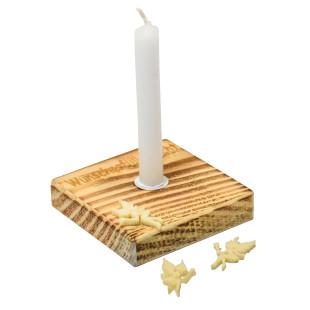 Nachhaltiges Upcycling Licht - Wunscherfüller - von Wunderle. Wunscherfüller Kerzenlicht ... - Kerzenständer aus Palettenholz, hergestellt in Werkstätten für behinderte Menschen.