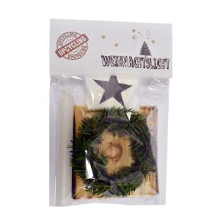 Nachhaltiges Adventslicht / Weihnachtslicht Upcycling - aus recycelten Palettenholz, hergestellt in Werkstätten für behinderte Menschen.