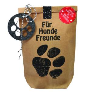 Geschenktüte für Hundefreunde. Braune Wundertüte Für Hunde Freunde von Wunderle.