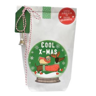Wunderle Wundertüte Hunde Weihnachtstüte Cool XMAS Dogs. Geschenktüte für Hunde und Hundebesitzer.