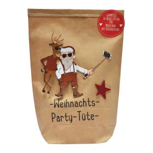 Party Wundertüte Weihnachten Wunderle. Braune Wundertüte Weihnachtsparty mit Nikolaus Cover. Geschenk / Mitbringsel Weihnachten. Mitarbeitergeschenk XMAS.