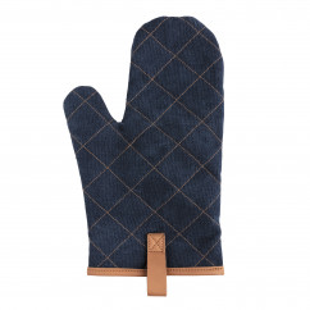 Blauer Deluxe Kochhandschuh Jeans Stoff von XD Design. Topfhandschuh, Ofenhandschuh ... . Design Kochhandschuhe.