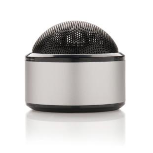 Kleiner Bluetooth Lautsprecher silber. 3W Wireless Speaker mit USB - Akku. Lautsprecher für Camping, Badesee, Zuhause uvm.