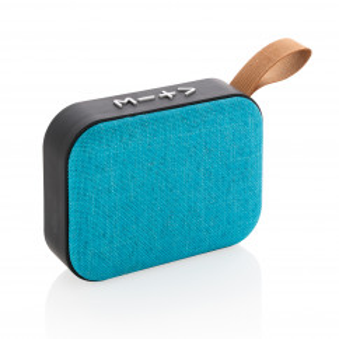 Lautsprecher Bluetooth FABRIC TREND Stoffbezug türkisblau