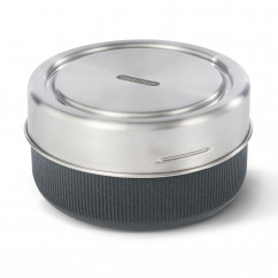 Große, auslaufsichere Lunch Bowl 750 ml grau. Glass Lunch Bowl black+blum. Nachhaltig, BPA-frei ... Glas Lunchbox.