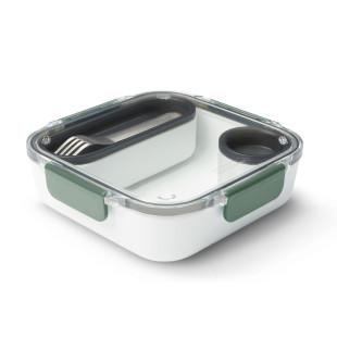 Lunchbox ORIGINAL inkl. Gabel + Behälter in olive grün von black+blum. BPA-freie, auslaufsiche Lunchbox aus Tritan Kunststoff.