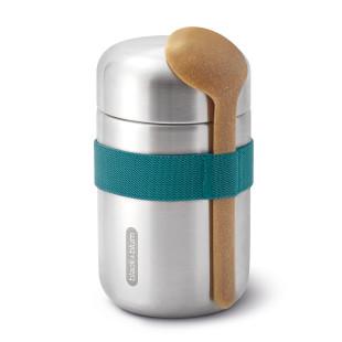 Doppelwandige Thermo Pot FOOD FLASK ocean blau. Lunchpot aus Edelstahl mit Löffel von black+blum Design.