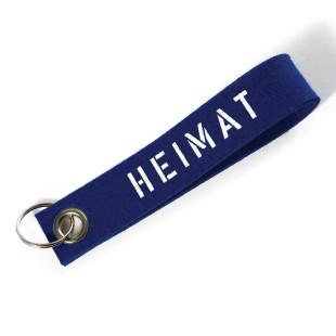 Schlüsselanhänger Heimat blau