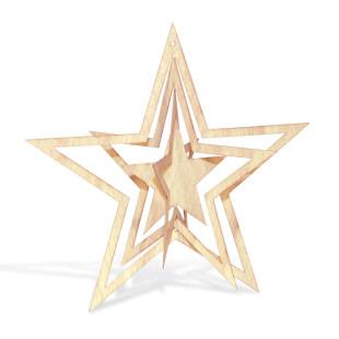 Weihnachtsstern Holzstern 3D von designimdorf. Stern aus Feinholz. Design Weihnachtsdekoration - Weihnachtsbaumschmuck.