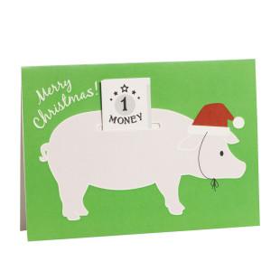 Grußkarte Schein im Schwein - Merry Christmas