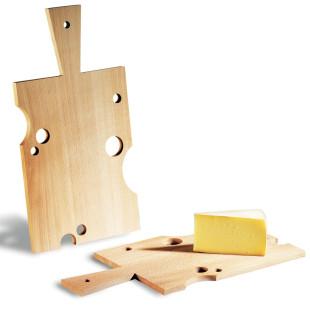 Käsebrett mit Griff - Buche