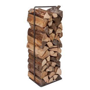 Holzregal für Brennholz - Timber Frame von designimdorf - das Brennholzregal aus schwarzem Metall mit 100 cm.