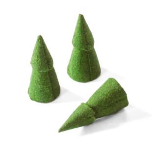 Die aussergewöhnlichen Räucherkegel BAUM von designimdorf. Räucherkegel neu interpretiert in Form eines Tannenbaum.