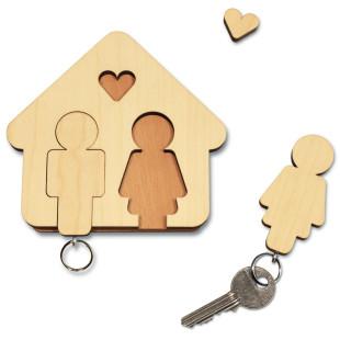 Schlüsselbrett Home Sweet Home, Mann und Frau