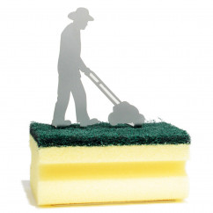 Schwammhalter Clean Green - Rasenmäher