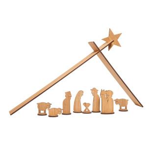 XMAS Holzkrippe von Designimdorf. Weihnachtskrippe Eichenholz zum Stecken. Design Krippe Weihnachten Simple Christmas.