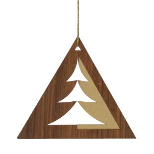 Weihnachtsschmuck Baumpassepartout Nussbaumholz gross