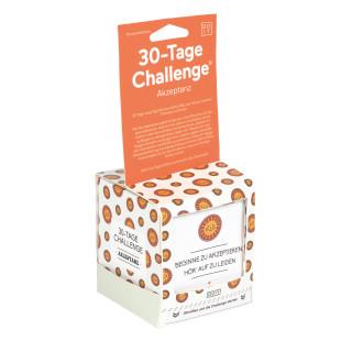 30 Tage Challenge Akzeptanz von DOIY Design - zieh dein Ticket und beginne die Challenge: 30 Tage, um deinen inneren Frieden zu finden.