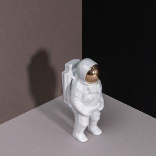Flaschenöffner Astronaut weiß-gold. Kapselheber Houston doiy design. Flaschenöffner Figur. Bottle opener Bieröffner Raumfahrer.