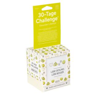 30 Tages Challenge Gesunder Lifestyle von Doiy Design: die originelle Unterstützung und Herausforderung um sich gesünder zu fühlen.