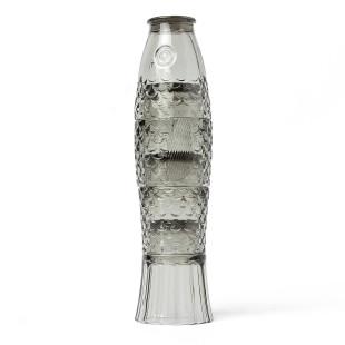 Einzigartiges Design verspricht das 4-teilige Gläserset Koifisch in grau von doiy design. 4 Gläser die gestapelt zum Koifisch.