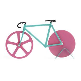 Ein Rennrad zum Pizza schneiden. Das ist der originelle Pizzaschneider THE FIXIE watermelon von doiy design. Fahrrad Pizzaschneider.