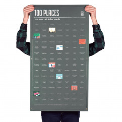 Poster, 100 PLACES - you must visit before you die