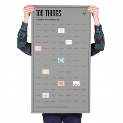 Poster - 100 THINGS you must do before you die - von DOIY Design.