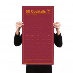 Doiy Design Poster, 50 COCKTAILS - to taste in a lifetime