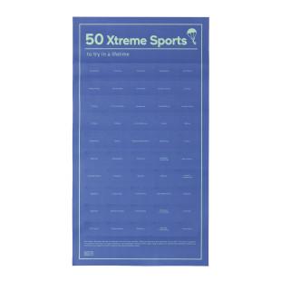 Poster, 50 XTREME SPORTS von Doiy Design: Das interaktive Poster mit 50 Sportarten die du probieren solltest!