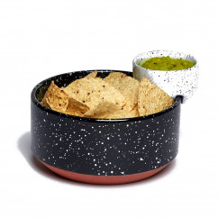 Schale mit Schälchen ECLIPSE, Chip and Dip