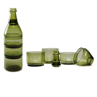 Das Schalen-Set LApéro von DOIY Design. Snackschalen Set mit Zahnstocherhalter in Weinflaschen-Form.