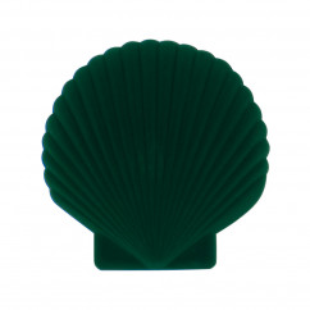 Schmuckschatulle Muschel - Shell Venus, dunkelgrün
