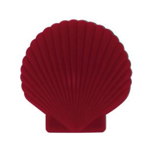 Schmuckschatulle rot - Shell Venus von doiy Design. Jewelery Box Muschel Schmuckdose . Klappbare Schmuckschatulle.