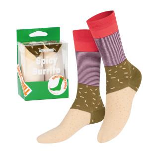 Zum Reinbeißen: die farbenfrohen BURRITO Socks von doiy design! Die wohl coolsten Socken, die du je getragen hast.