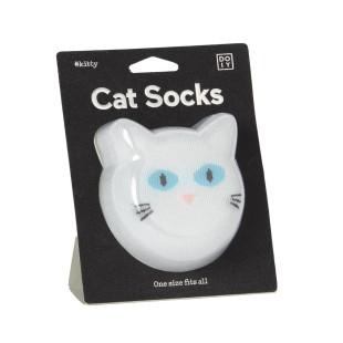 Katzen Fashionsocken von doiy design. Cat Socks Socken - weiß. Die lustigen Socken mit Katzenmotiv von doiy design.