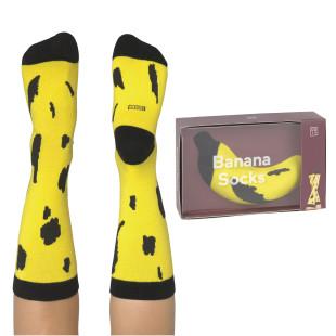 Bananen Fashionsocken von doiy design. Fruit Socks Banana Socken. Die lustigen Socken, geliefert als Banane von doiy design.
