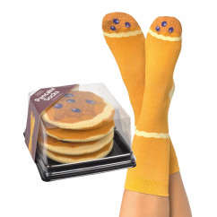 Pfannkuchen Socken von doiy design. Lustige Pancake Socks. Witzige Fashionsocken - Trend Socken Baumwolle - Design Socken.