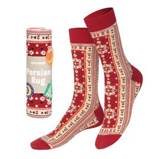 Persian Rug Socks von doiy design - 1 Paar Socken, hochwertiger Feinstrick, originell verpackt in Form eines Perserteppichs