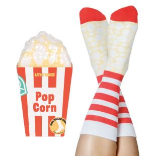 Popcorn Socks von doiy design - 1 Paar Socken originell verpackt in Form einer Popcornschachtel