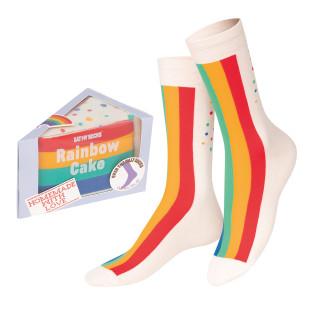 Rainbow Cake Socks von doiy design - 1 Paar Socken in einer netten Geschenkverpackung verpackt