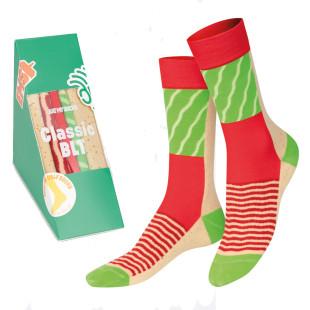 Sandwich Socks von doiy design - 1 Paar stylische Socken originell verpackt in einer Sandwichform