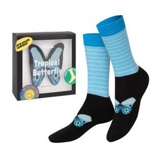Butterfly Socks von doiy design - 1 Paar Socken in einer netten Geschenkverpackung verpackt