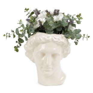 Die weiße Apollo Vase aus Keramik von DOIY Design: das originelle Dekoojekt mit Mehrwert. Stylischer Eyecatcher für Blumen