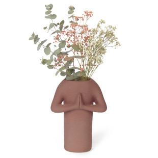 Ein toller Eyecatcher und inspiriert vom Yoga-Geist: die Vase Namaste von Doiy Design. Yoga Blumenvase aus Keramik.