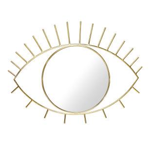 Wandspiegel Cyclops L - goldener Augen Spiegel Cyclops - DOIY Design - Dekospiegel - Badspiegel - Eye - Makeup Spiegel - Metallspiegel
